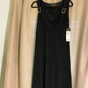Donna Ricco Black Sleeveless Asymmetrical Dress 12